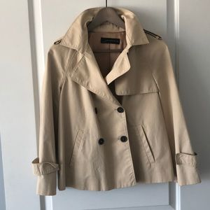 Cropped Trench Coat